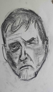 Stephen Curtis sketch of Ivor March 2015