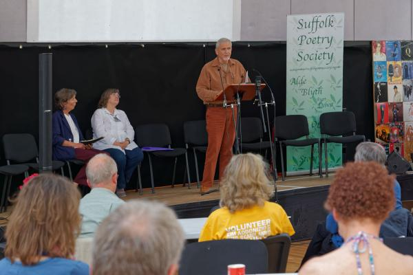 Ivor reading at the 2015 SPS Poetry Festival. Photo by Colin Whyles