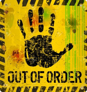 out of order sign, vector