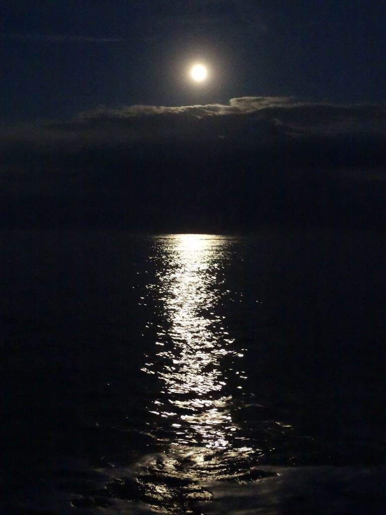 Full moon over the sea, June 20th. My photo
